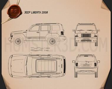 Jeep Liberty (Cherokee) 2008 Blueprint