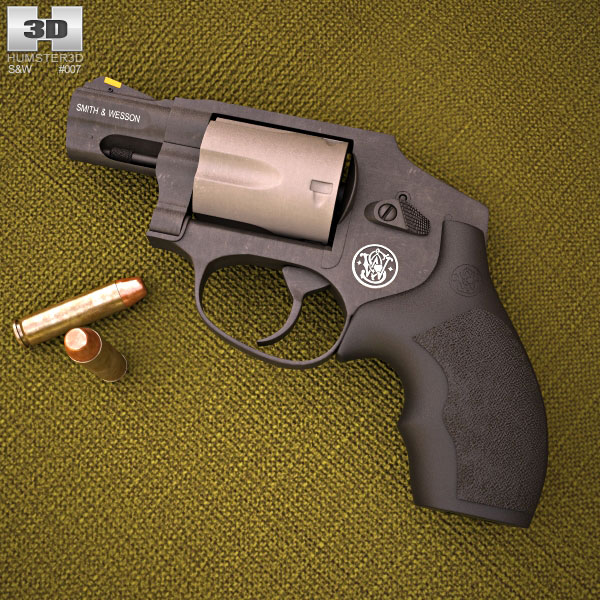 Smith & Wesson Model 340PD 3d model