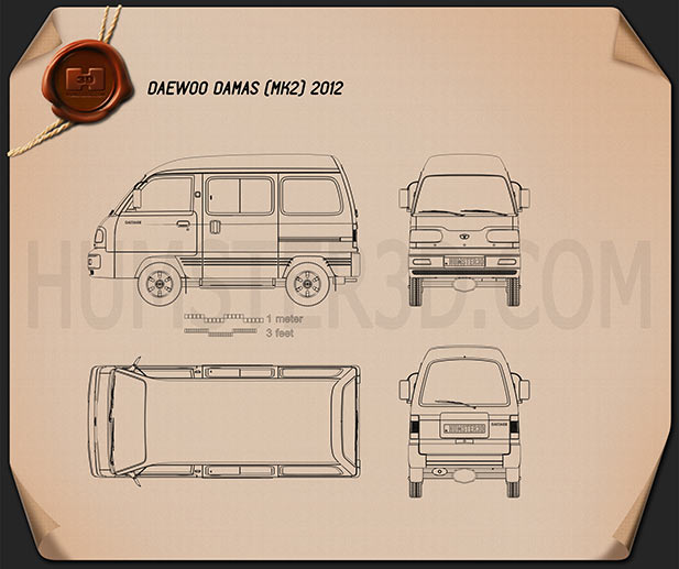 Daewoo Damas 2012 Blueprint