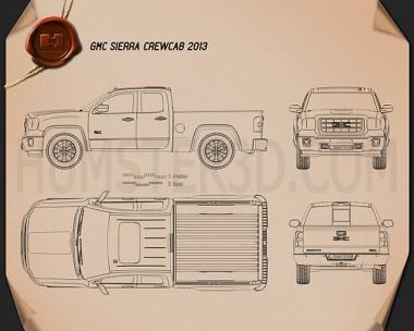 GMC Sierra Crew Cab 2013 Blueprint