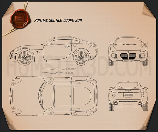Pontiac Solstice Coupe 2009 Blueprint
