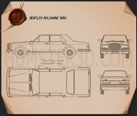 Bentley Mulsanne 1980 Blueprint