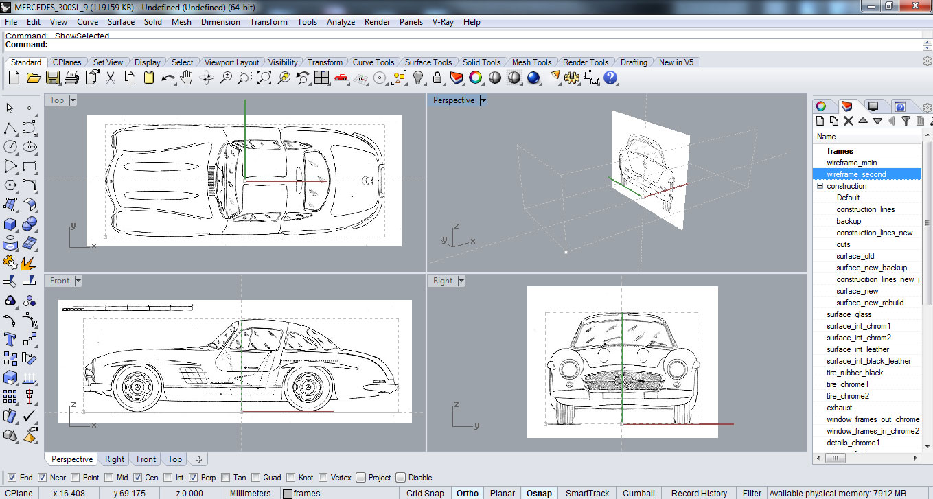 Making of the gullwing hum3d blog setting up the modelling environment malvernweather Choice Image