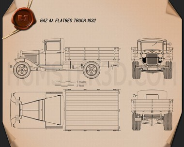 GAZ-AA Flatbed Truck 1932 Blueprint