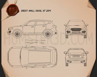 Great Wall Haval H7 2014 Blueprint