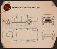 Maserati Quattroporte 1966 Blueprint