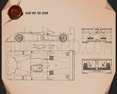 Audi R10 TDI 2006 Blueprint