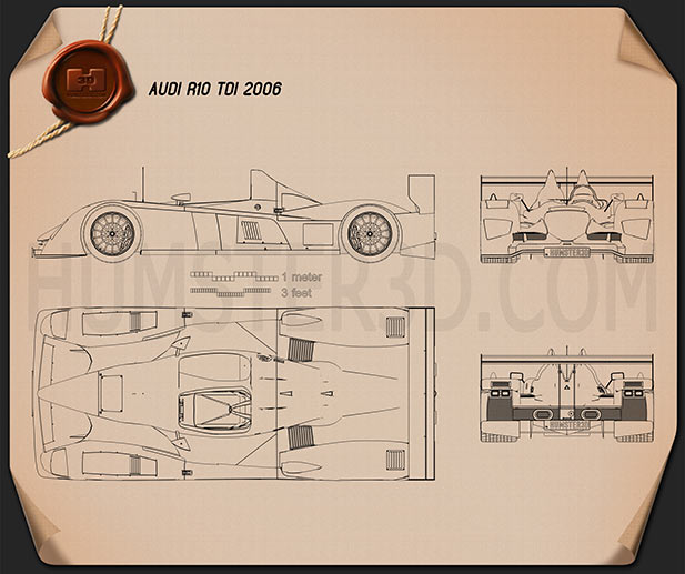 Audi R10 TDI 2006 Blueprint