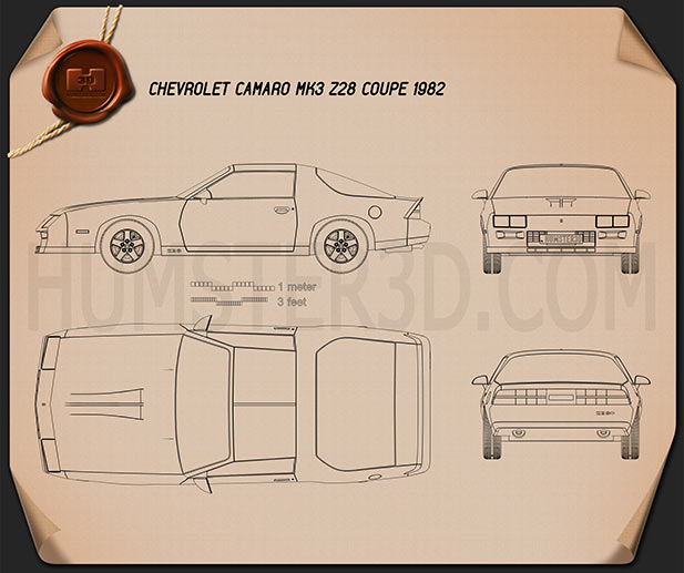 Chevrolet Camaro Z28 coupe 1982 Blueprint