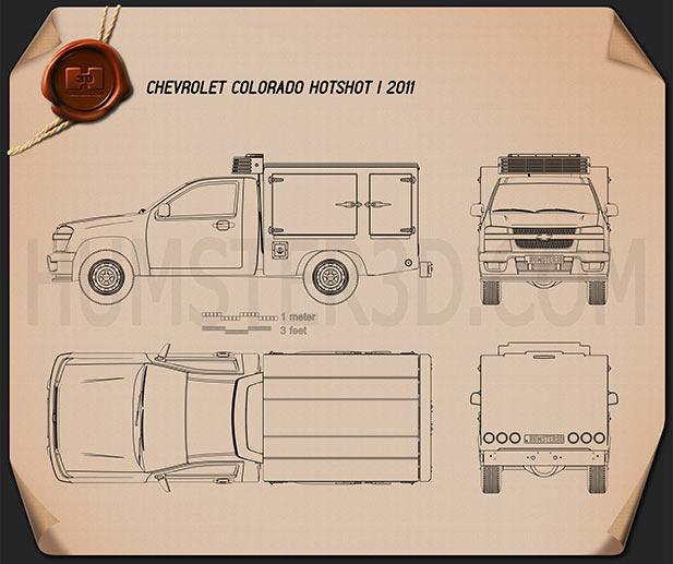 Chevrolet Colorado Hotshot I 2011 Blueprint