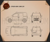 Citroen Nemo Combi 2011 Blueprint
