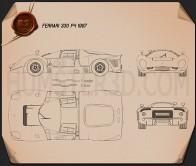 Ferrari 330 P4 1967 Blueprint