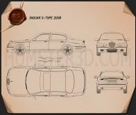 Jaguar S-Type 2008 Blueprint