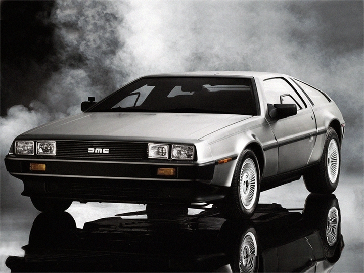 "DeLorean from the movie ""Back to the Future."""