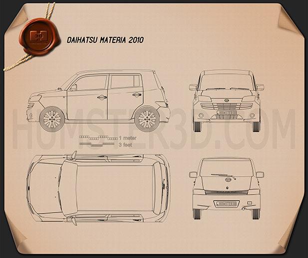 Daihatsu Materia 2010 Blueprint