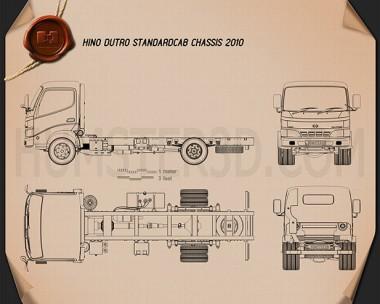 Hino Dutro Standard Cab Chassis 2010 Blueprint