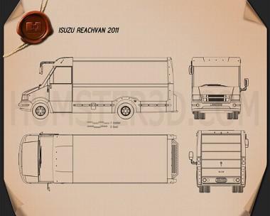Isuzu Reach Van 2011 Blueprint