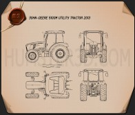 John Deere 5100M Utility Tractor 2013 Blueprint