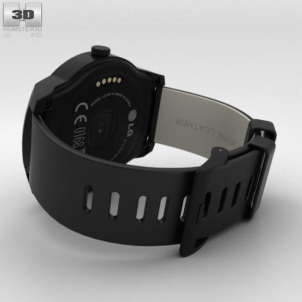 LG G Watch R 3D model - Hum3D