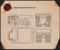 Liebherr T 282B Dump Truck 2012 Blueprint