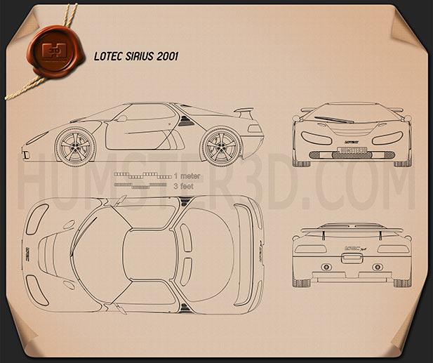 Lotec Sirius 2001 Blueprint