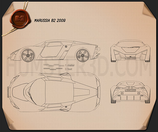 Marussia B2 2010 Blueprint