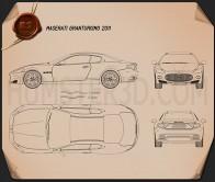 Maserati GranTurismo 2011 Blueprint