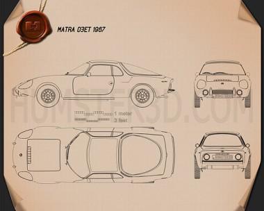 Matra Djet 1967 Blueprint