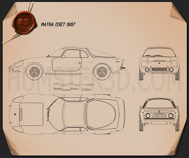 Matra Djet 1967 Blueprint