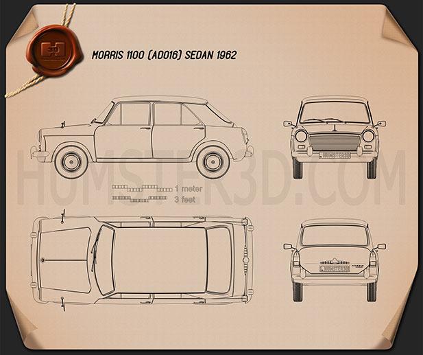 Morris 1100 (ADO16) 1962 Blueprint