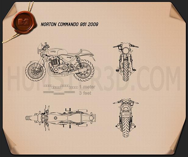 Norton 961 Commando 2009 Blueprint