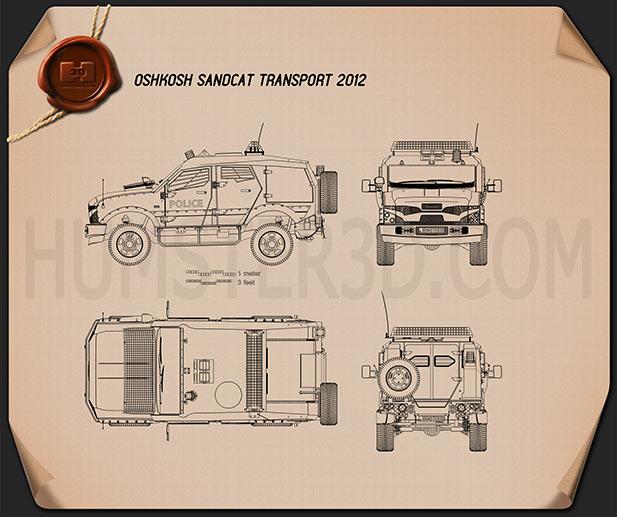Oshkosh Sand Cat Transport 2012 Blueprint