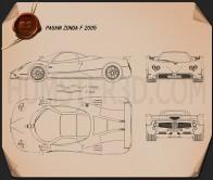 Pagani Zonda F 2005 Blueprint