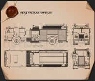 Pierce Fire Truck Pumper 2011 Blueprint