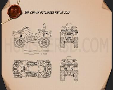 BRP Can-Am Outlander MAX XT 2013 Blueprint