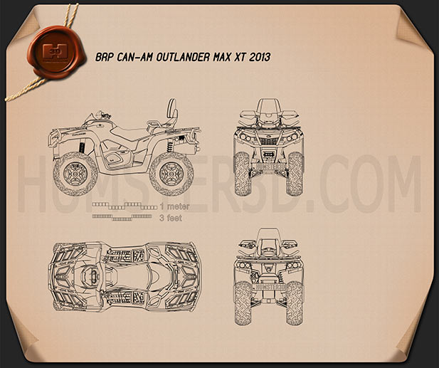 BRP Can-Am Outlander MAX XT 2013 Blueprint
