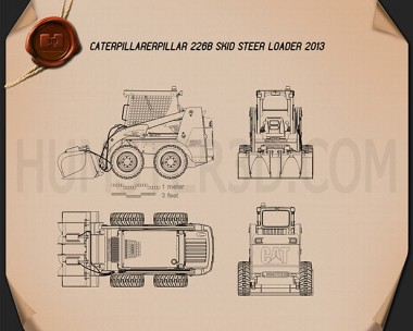 Caterpillar 226B Skid Steer Loader Blueprint