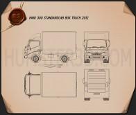 Hino 300 Standard Cab Box 2010 Blueprint