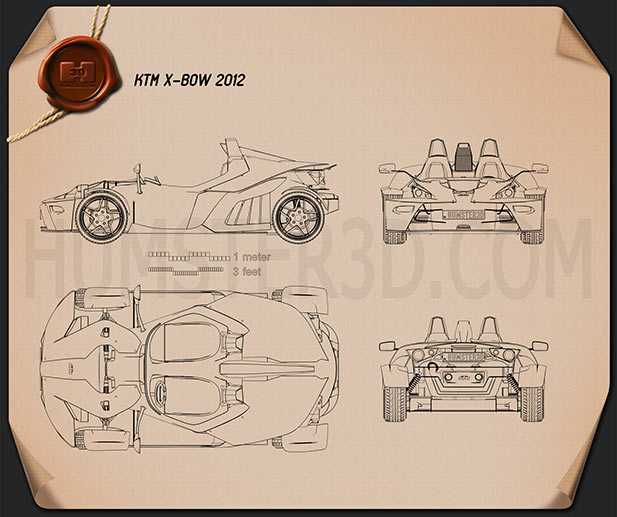 KTM X-Bow 2012 Blueprint