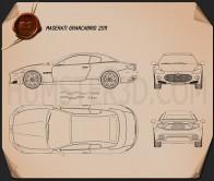 Maserati GranCabrio 2011 Blueprint