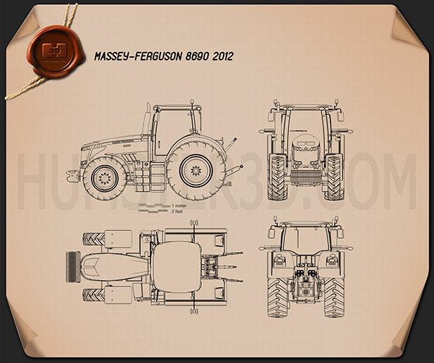 Massey-Ferguson 8690 2012 Blueprint