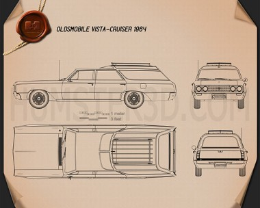 Oldsmobile Vista Cruiser 1964 Blueprint