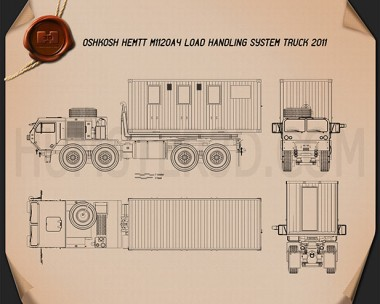 Oshkosh M1120A4 Load Handling System 2011  Blueprint