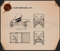 Polaris Ranger Diesel 2014 Blueprint
