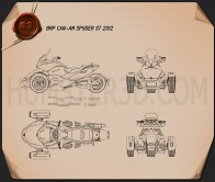 BRP Can-Am Spyder ST 2013 Blueprint