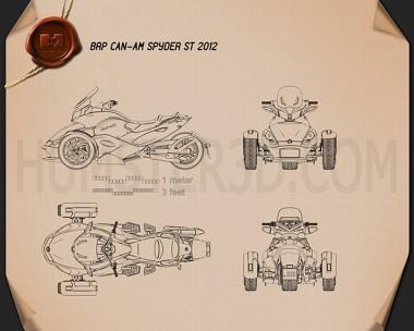BRP Can-Am Spyder ST 2013 Blueprint