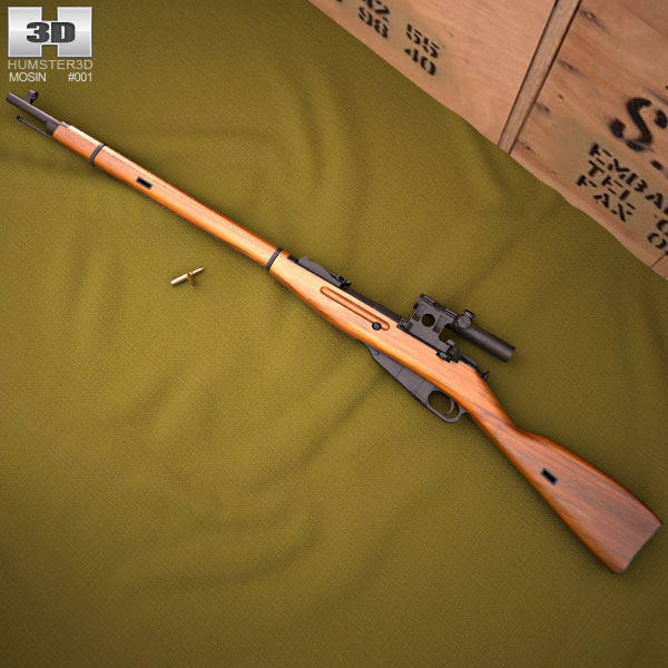 Mosin Nagant 91/30 3d model