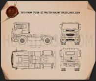 Tata Prima Tractor Racing Truck 2009 Blueprint