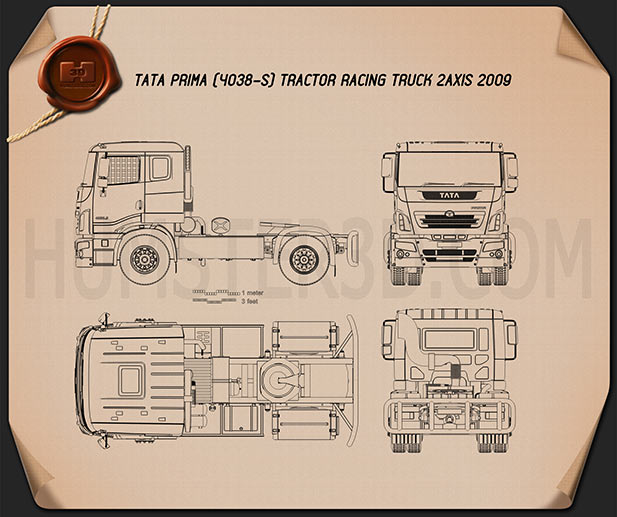 Tata prima tractor racing truck 2009 blueprint hum3d tata prima tractor racing truck 2009 blueprint malvernweather Image collections