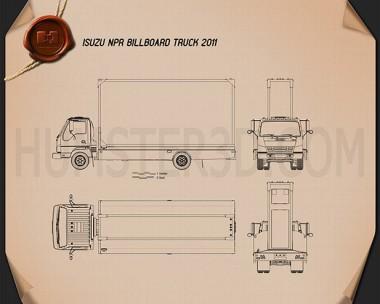 Isuzu NPR Billboard 2011 Blueprint